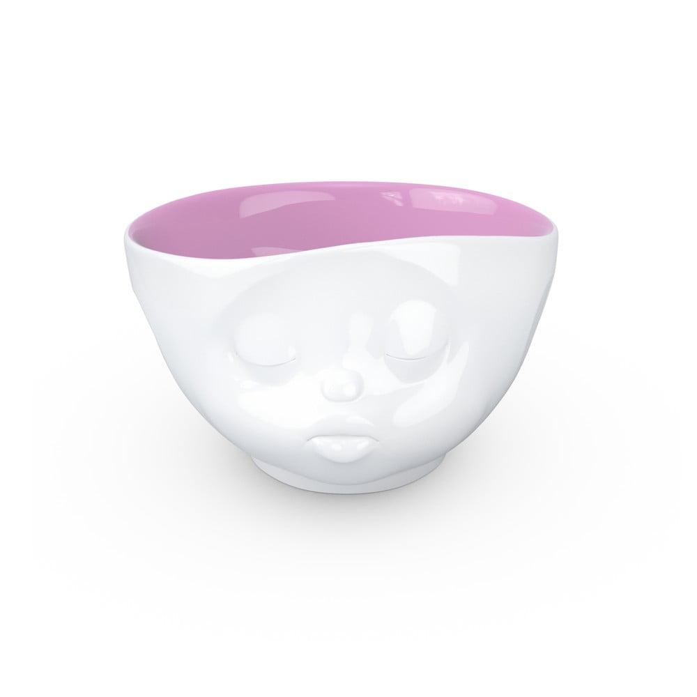 Bielo-fialová porcelánová bozkávajúca miska 58products