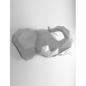 Papierová trofej Slon, sivo-biely