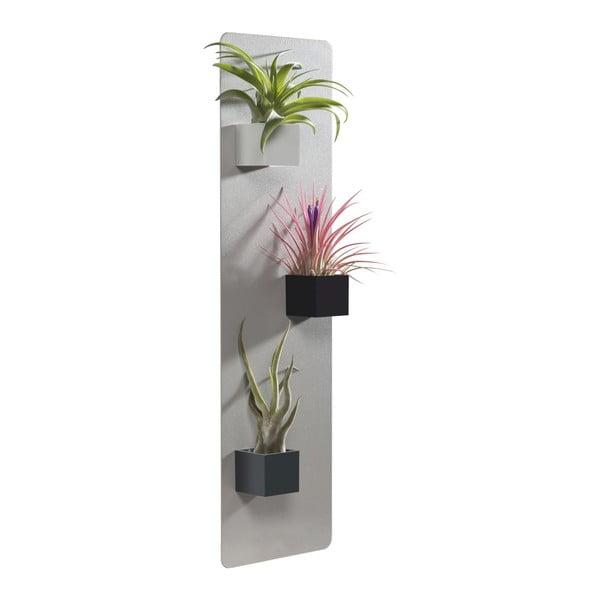 Podstavec na magnetické kvetináče, svetlo sivý, 14x50 cm