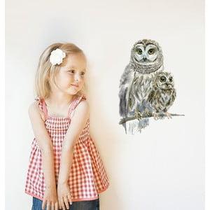 Samolepka na viac použití Woodland Owls, 30x21 cm
