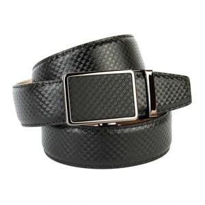 Pánsky kožený opasok 37B10 Black, 90 cm