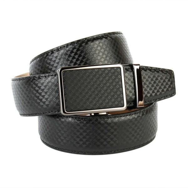 Pánsky kožený opasok 37B10 Black, 100 cm