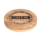 Set doštičky na krájanie syra s úložným priestorom a 4 nožov Premier Housewares