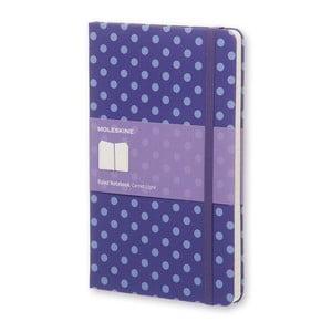 Veľký fialový zápisník Moleskine Hard s bodkami, linajkový