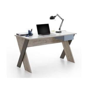Pracovný stôl v svetlom dubovom dekore Moona