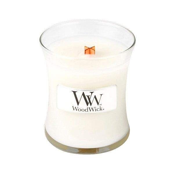 Sviečka s vôňou čerstvo vypratej bielizne Woodwick Čistá bielizeň, doba horenia 20 hodín