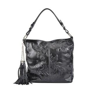 Čierna kožená kabelka Isabella Rhea Larto