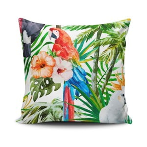 Vankúš s prímesou bavlny Cushion Love Flowers, 45 × 45 cm