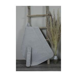 Sada 2 svetlosivých bavlnených kúpeľnových predložek My Home Plus Relax