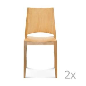 Sada 2 drevených stoličiek Fameg Ditte