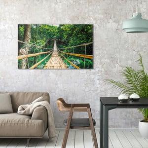 Obraz na plátne OrangeWallz Bridge in Jungle, 70 x 118 cm