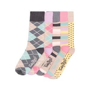 Sada 5 párov farebných ponožiek Funky Steps Andrea, veľ. 35-39