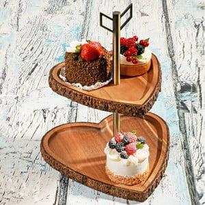 Drevený prírodný stojan na tortičkyAcacia