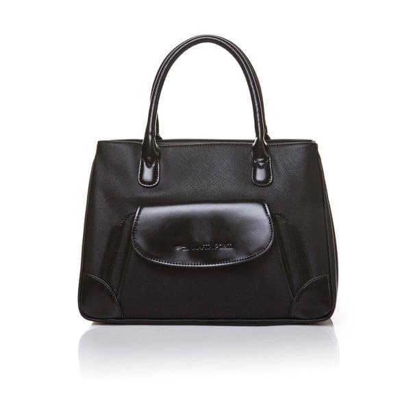 Kožená kabelka do ruky Marta Ponti Pocket, čierna
