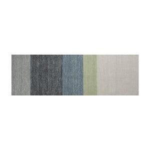 Vlnený koberec Poraka Green, 80x250 cm