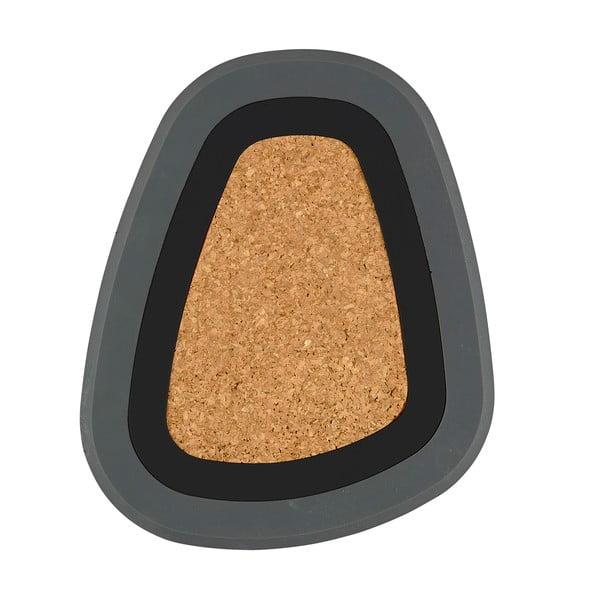 Trojdielna podložka pod horúce nápoje Pebble, čierna a sivá