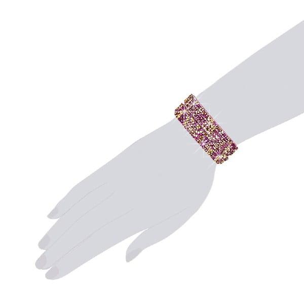 Náramok Pink Shine, 34 cm