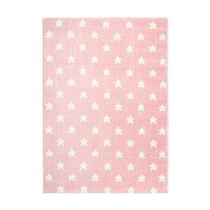 Ružový detský koberec Happy Rugs Stardust, 80x150cm
