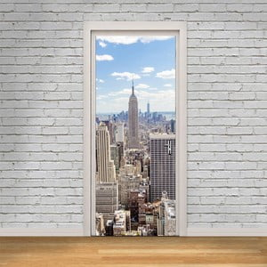 Adhezívna samolepka na dvere Ambiance New York View, 83 x 204 cm
