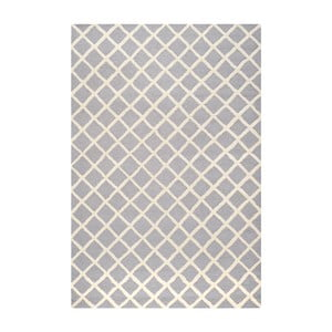 Svetlosivý vlnený koberec Sophie Light Blue Grey, 182×274 cm