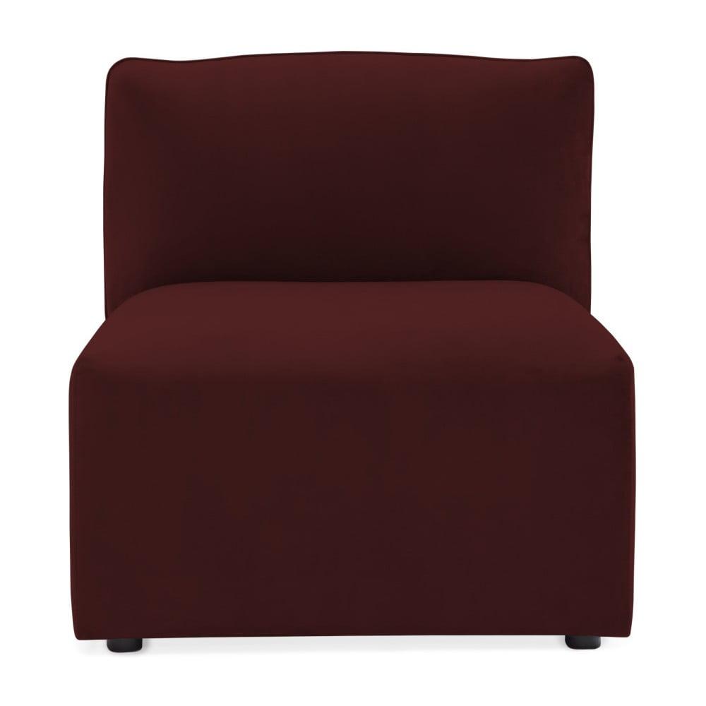 Vínovočervený prostredný modul pohovky Vivonita Velvet Cube