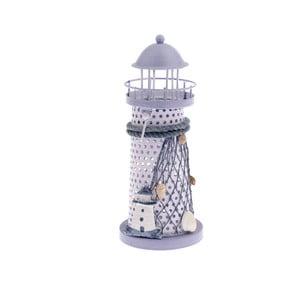 Svetlofialový svietnik Dakls Lighthouso, výška 18,5 cm