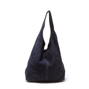 Tmavomodrá kožená kabelka Roberta M 885 Blu