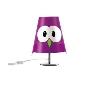 Fialová detská lampička e-my Lucignolo