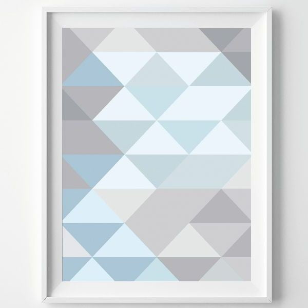 Plagát Monochrome Blue, A3