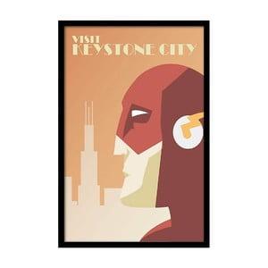 Plagát  Visit Keystone City, 35x30 cm