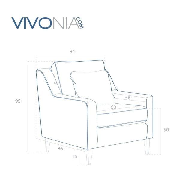 Sivé kreslo Vivonita Bond