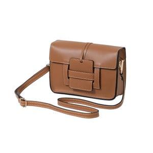 Hnedá kabelka z pravej kože Andrea Cardone Paolo