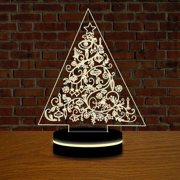Vianočná LED lampa s 3D efektom Christmas Tree