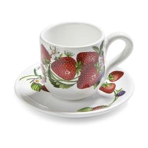 Set čajových šálok s tanierikmi Fade Fragole, 2ks
