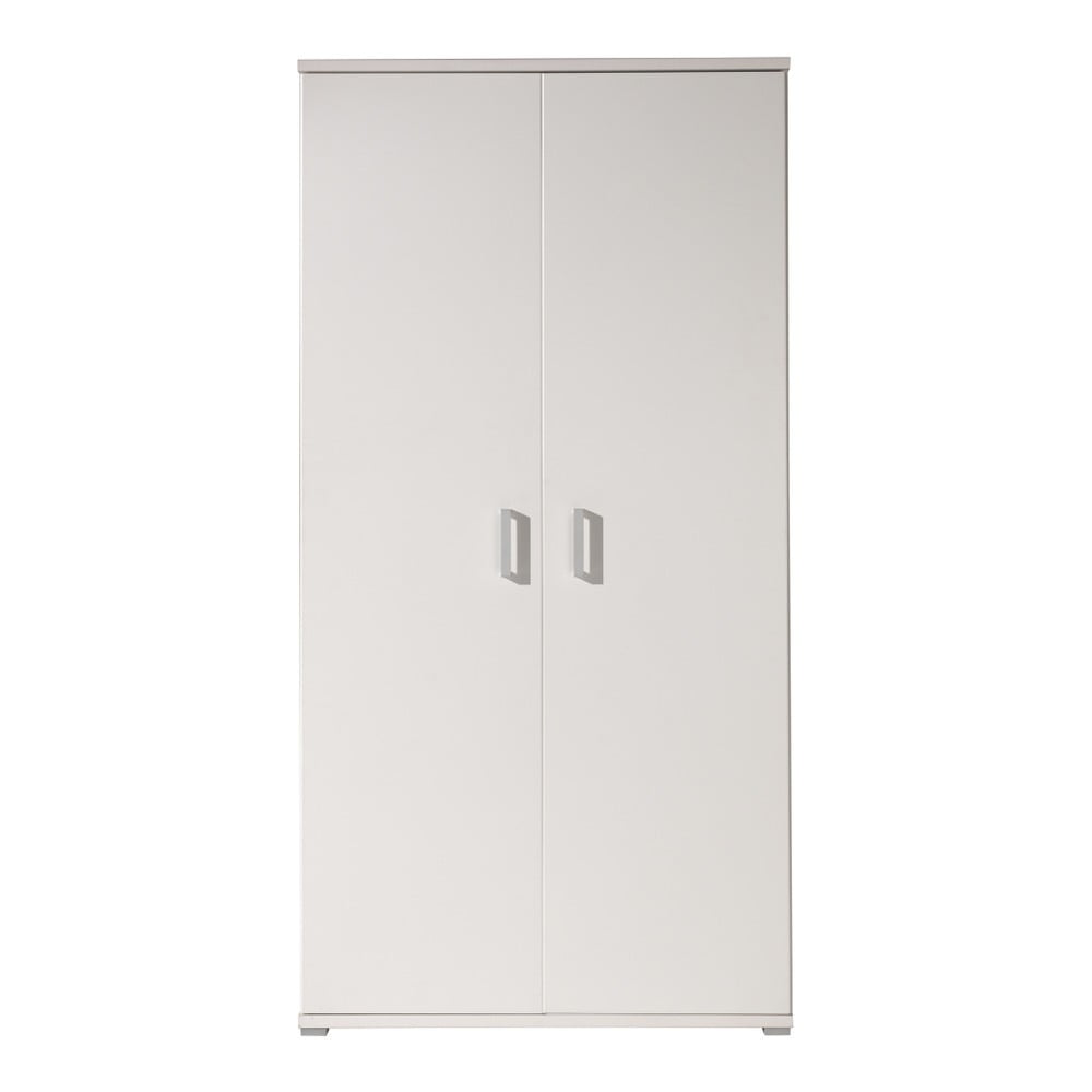 Biela šatníková skriňa Vipack Milan, 198 × 59 × 105 cm