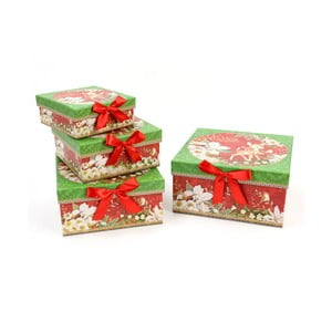 Sada 4 darčekových škatuliek Unimasa Square, 23 x 23 cm