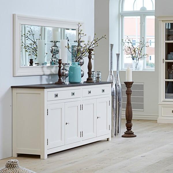 Štvordverová biela komoda Canett Skagen Sideboard, 2 zásuvky