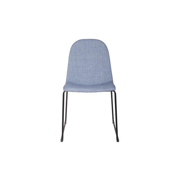 Sada 2 jedálenských stoličiek Copper Light Blue