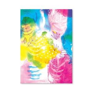 Plagát Yellow Flowers Archival, 30x42 cm