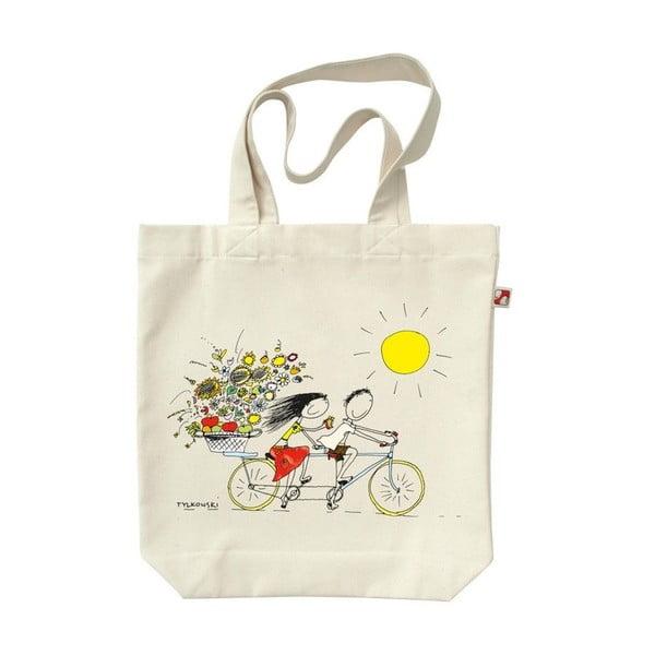 Plátenná taška Na bicykli
