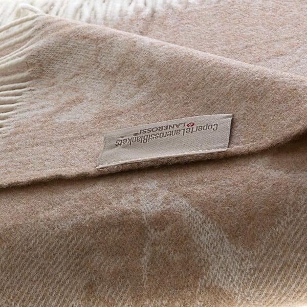 Vlnená prikrývka Danimarca 130x180 cm, hnedá