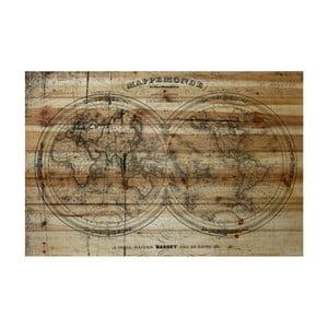 Obraz na dreve Marmont Hill Wooden World, 61×41 cm