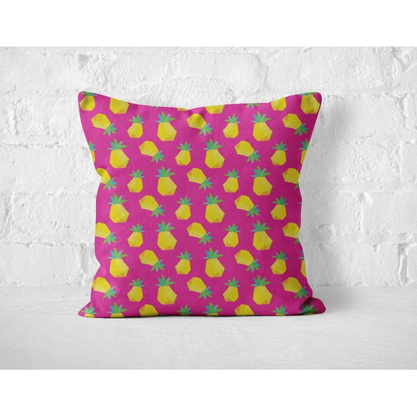 Vankúš Pink Ananas, 40x40 cm