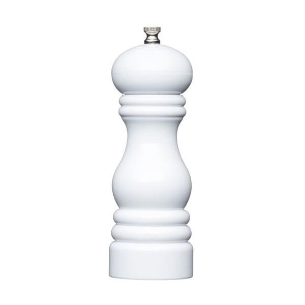 Mlynček na korenie Kitchen Craft Master Class White, 17 cm
