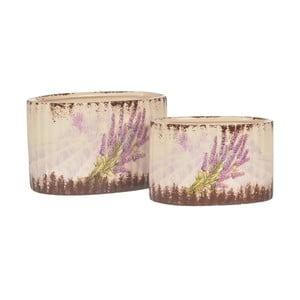 Sada 2 keramických kvetináčov Lavender