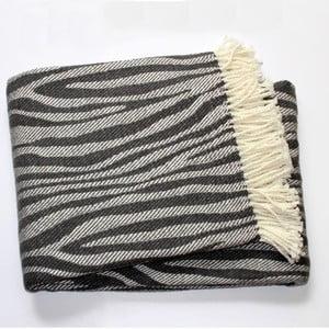 Deka Zebra Dark Grey, 140x180 cm