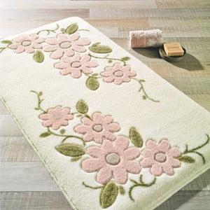 Biela predložka do kúpeľne Confetti Bathmats Margherita, 80×140cm