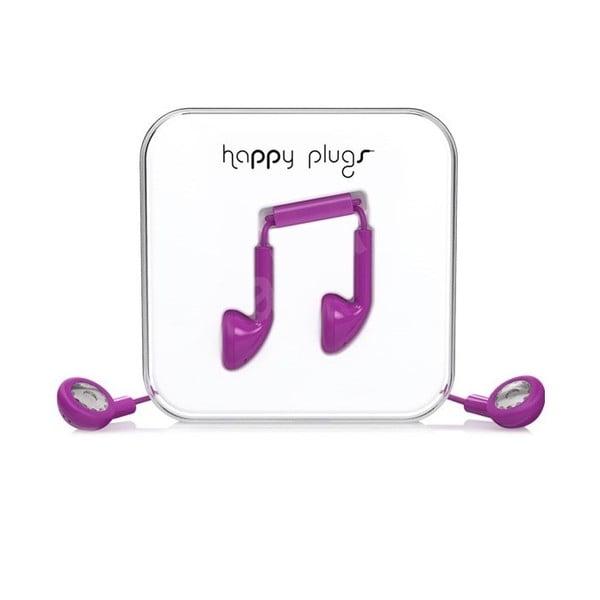 Slúchadlá Happy Plugs, fialové