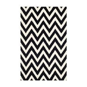 Vlnený koberec Stella Black, 182x274 cm
