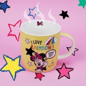 Keramický hrnček Disney Mouse Minnie I Love Rainbows, 400 ml
